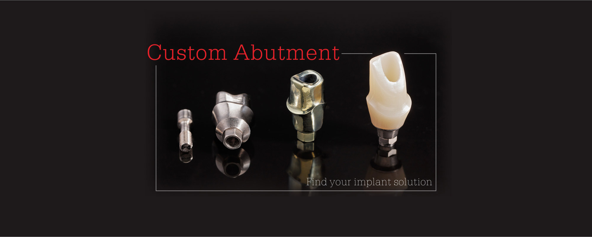 Custom Abutment,Find your implant solution